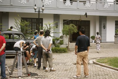 A scene from 血之歌 (Song of Blood) being filmed