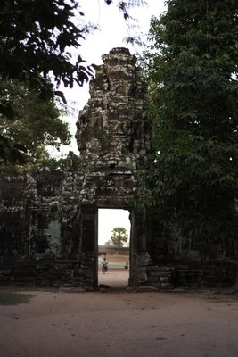Going back out of Banteay Kdei - looking across the road to Srah Srang