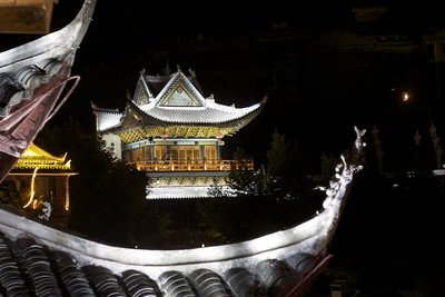 The ancient town of Fenghuang at night
