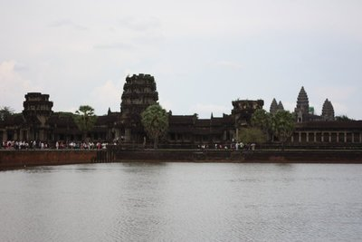 The inner and outer structures of Angkor Wat