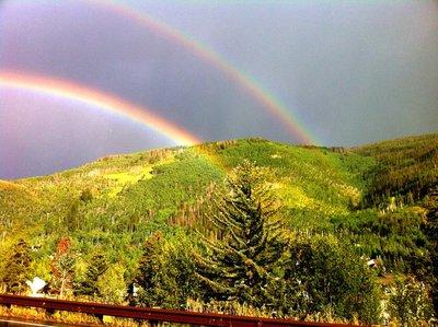 Double Rainbow over Vail tonight, 8/22/11