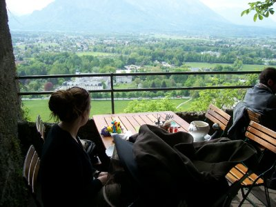 View over lunch at Hohensalzburg fortress