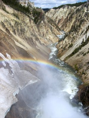 Grand Canyon of the Yellowstone rainbow