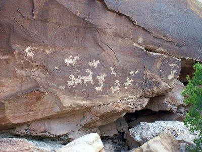 Anasazi petroglyphs, Arches