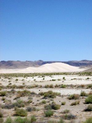 Giant sand dune mountain