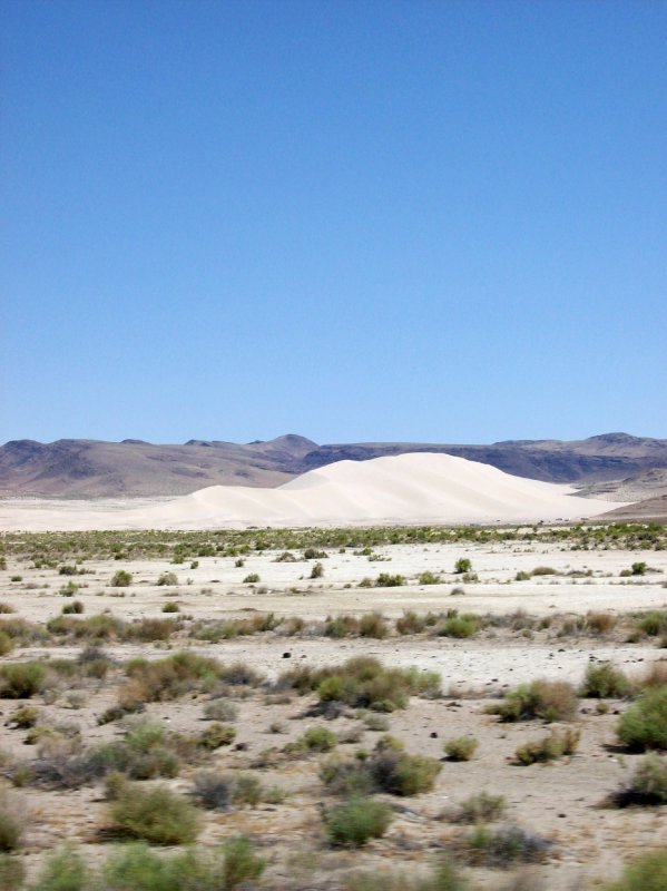 Giant sand dune mountain