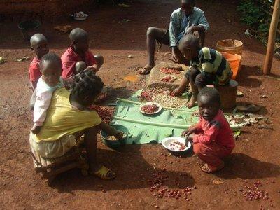 Children preparing food