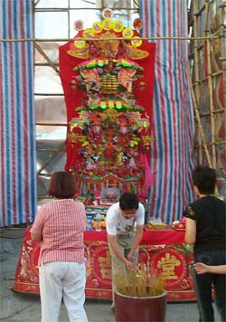 Shrine to the Sky Goddess at the Tien Hau Dan Festival