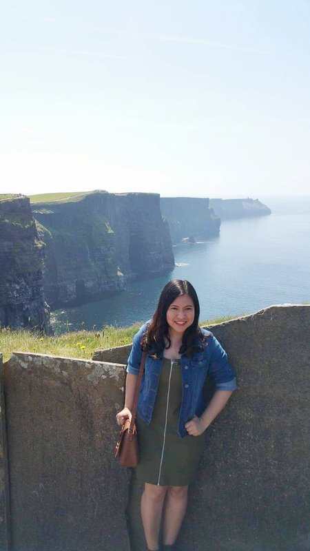 With the Irish cliffs