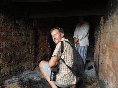 Inside the brick factory kiln