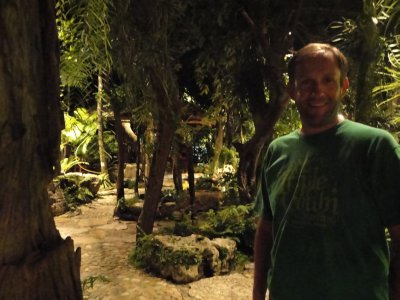 Strolling in the restaurants jungle after an excellent meal
