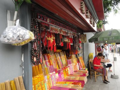 One of many religious stores near the temple