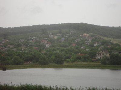 A rain swept village in Moldova