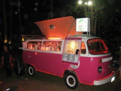 Cocktails at the Pink VW Campervan