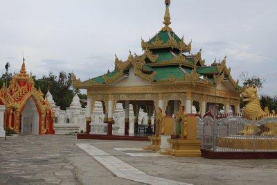 The Kuthodaw Paya. Each of the 729 white stupas house  a part of the Tripitaka