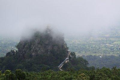 Mt. Popa in the clouds