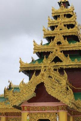 Beautiful architecture at the Shwemawdaw Paya