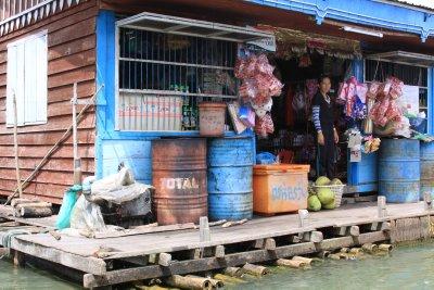Floating village shop