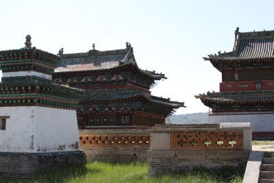 The temple complex of Erdene Zuu Khiid