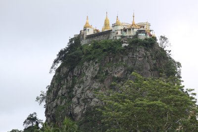 Mt. Popa appears from the clouds
