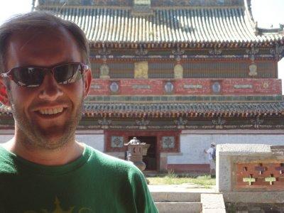 Outside the Erdene Zuu Khiid temple