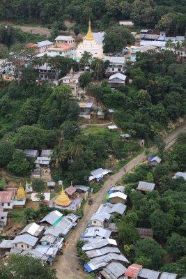 Looking down on Popa village