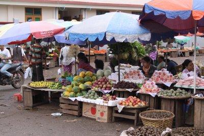 Market stalls in Pyin Oo Lwin