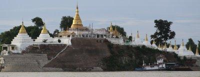 The golden stupas of Sagaing