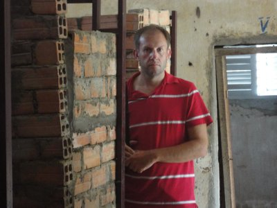 The make-shift cells of Tuol Sleng