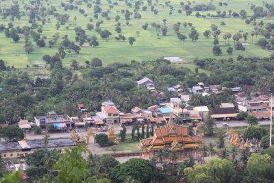 Looking down from Phnom Sampeau