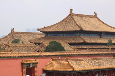 The yellow roofs of the Forbidden Palace