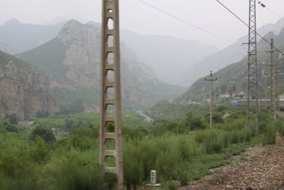 A misty morning meant no view of the Great Wall. Shame.