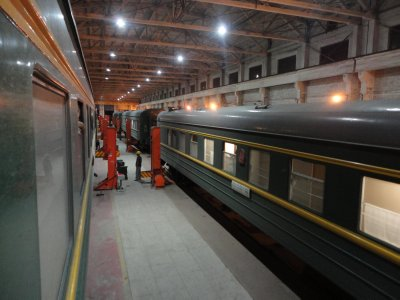 The vast shed could house at least 12 carriages
