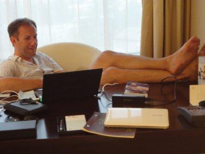 Hard at work on my Blog!