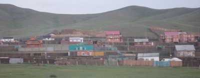 A few Mongolian towns pass by