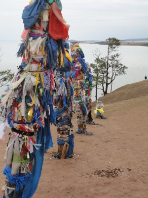 Prayer flags at the Lake