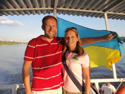 Cruising the Dnipro river
