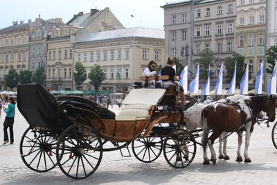 Horse drawn carriage tours of Old Town...