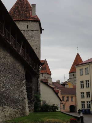 Medieval walls and walkway