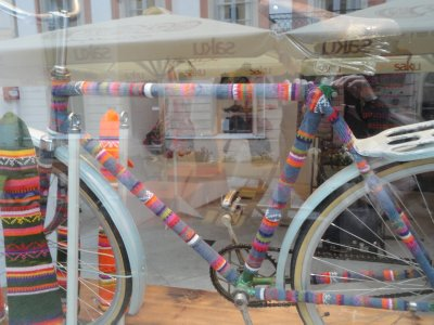 Even the bicycles need warming in Tallinn