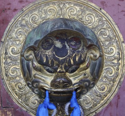 Chinese styled door handle