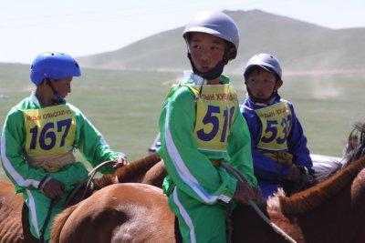 Jockeys ready to depart