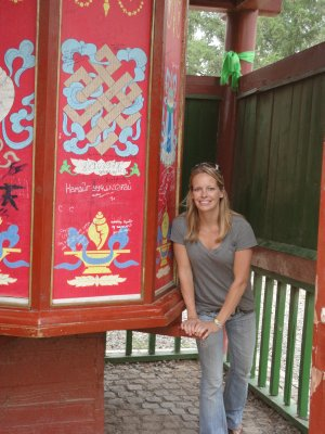 Trey spins her Prayer Wheel