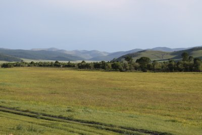 The Mongolian countryside continues to roll by