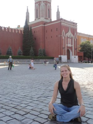 Trey begins her protest in Red Square