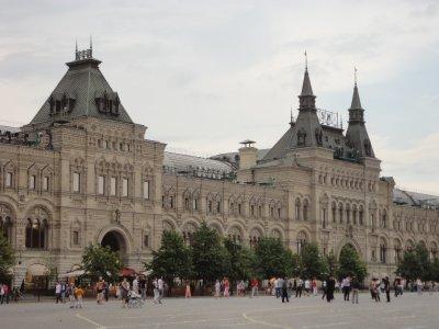 The imposing GUM department store in Red Square