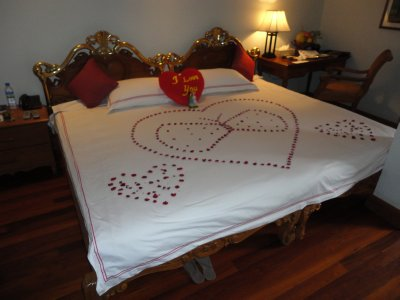 For some reason the hotel thought we were honeymooners!