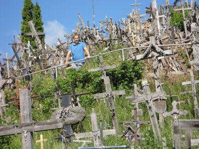 James at the Hill of Crosses