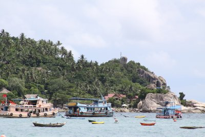 Dive boats aplenty on this island