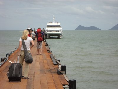 Our hi-speed ferry to Koh Tao